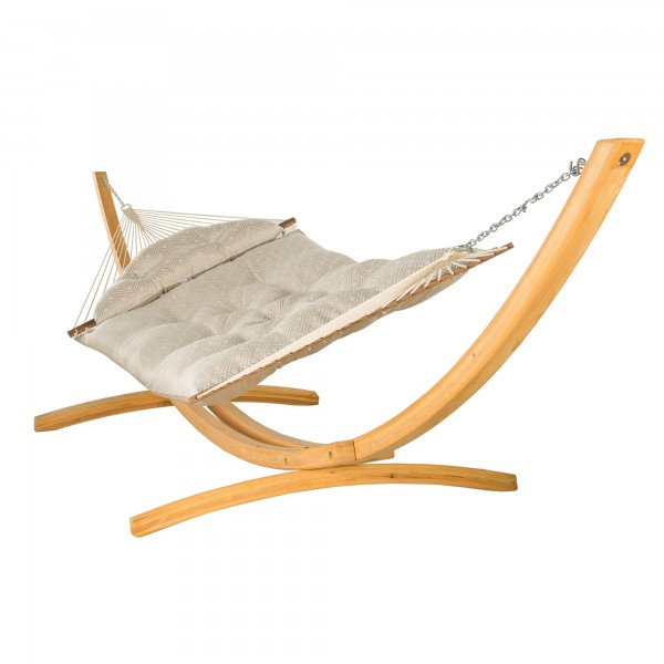 Hatteras Hammock Large Tufted Hammock -  Sunbrella Integrated Pewter