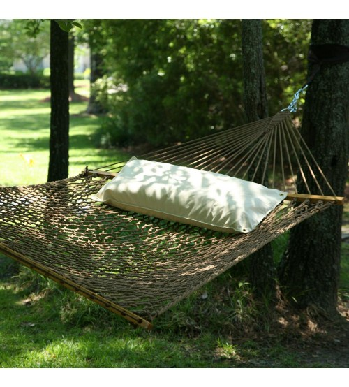 deluxe antique brown duracord rope hammock antique brown duracord rope hammock  rh   hammockshoppe