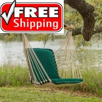 Pawleys Ialand Cushioned Single Swing - Sunbrella Forest Green