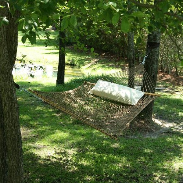 Pawleys Island Large DuraCord® Rope Hammock  - Antique Brown