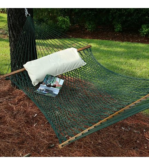 Pawleys Island Large DuraCord® Rope Hammock  - Green