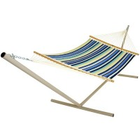 Pawleys Island Large Quilted Fabric Hammock - Beaches Stripe