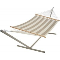 Pawleys Island Large Quilted Fabric Hammock - Sunbrella Regency Sand