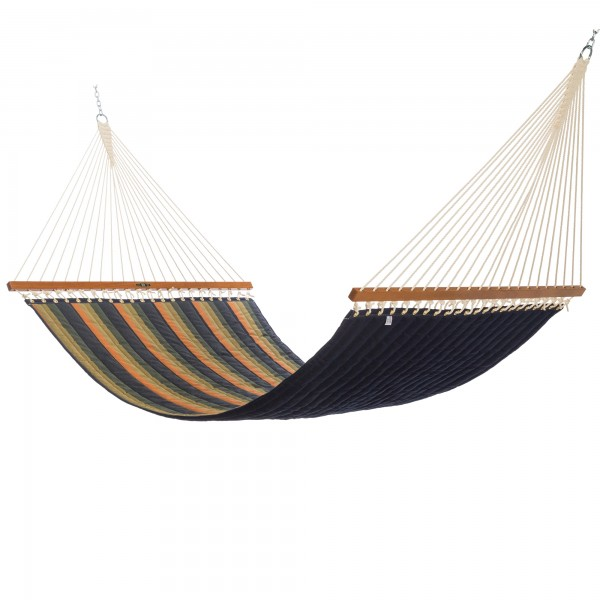 Pawleys Island Large Quilted Fabric Hammock - Sunbrella Gateway Aspen