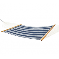 Pawleys Island Large Quilted Fabric Hammock - Sunbrella Anchor Navy