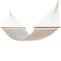 Pawleys Island Large Quilted Fabric Hammock - Sunbrella Cove Pebble