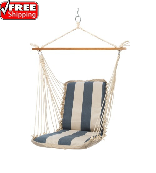 Pawleys Island Cushioned Single Swing - Sunbrella Regency Indigo