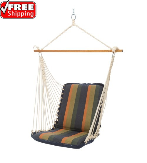 Pawleys Island Cushioned Single Swing - Sunbrella Gateway Aspen