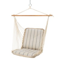 Pawleys Ialand Cushioned Single Swing - Sunbrella Cove Pebble