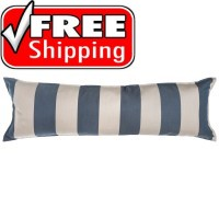 "52"" Long Hammock Pillow - Sunbrella® Regency Indigo"