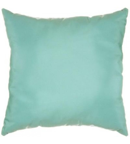 "Sunbrella 24""x24"" Designer Throw Pillow - Canvas Glacier"